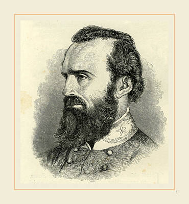 Stonewall Jackson Drawing - Stonewall Jackson, Usa 19th Century by Liszt collection