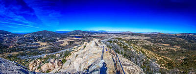 Stonewall Mountain Panorama Cuyamaca Ca Art Print by Will Castro