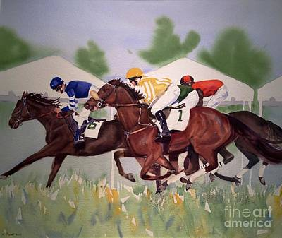 Painting - Stoneybrook Steeple Chase by Kathy Flood