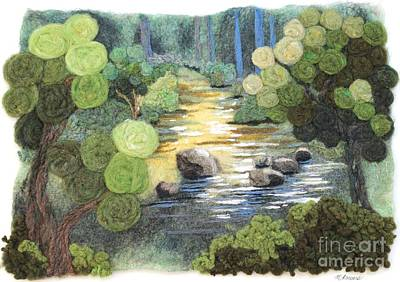 Needle Felting Tapestry - Textile - Stoneycreek Summer by Michelle Bowers