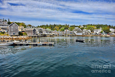 Harbor Dock Photograph - Stonington In Maine by Olivier Le Queinec