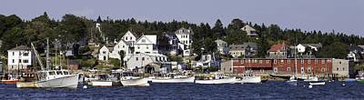 Maine Landscape Photograph - Stonington Maine Harbor by Susan  Degginger