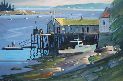 Painting - Stonington Maine by Len Stomski