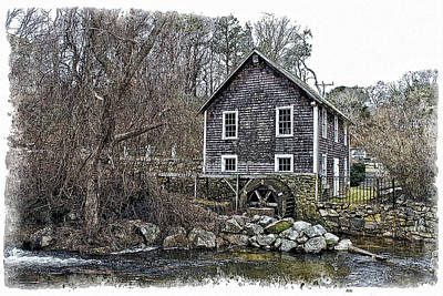 Stony Brook Gristmill Art Print by Constantine Gregory