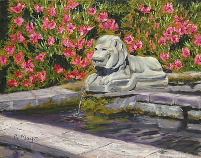 Painting - Stony Lion by Alan Mager