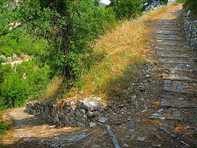 Photograph - Stony Stairs In Nature by Alexandros Daskalakis