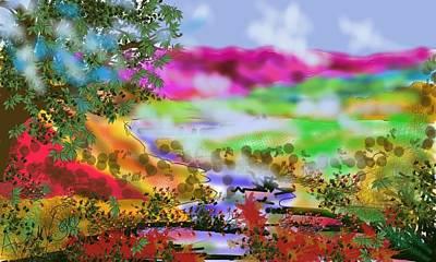 Painting - Stonybrook Valley Asleep by Arjun L Sen