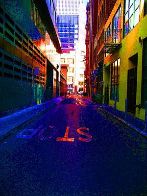 Art Print featuring the photograph Stop Alley by Cynthia Marcopulos