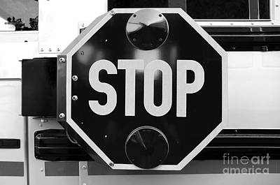 Photograph - Stop Bw by Andee Design