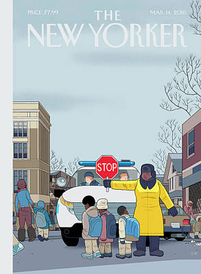 Police Painting - Stop by Chris Ware