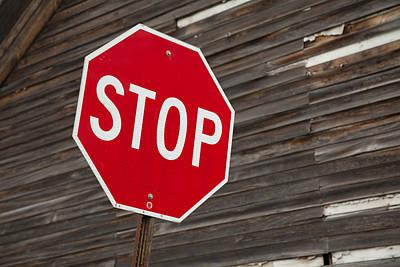 Stop Art Print by David Smith