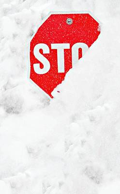 Stop Art Print by Diana Angstadt