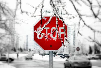 Stop Glacee Art Print by Valentino Visentini