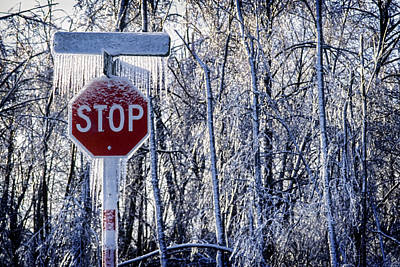 Stop Ice Print by Kelley King