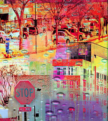 Stop Sign Digital Art - Stop In St. Louis Park by Susan Stone