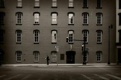 Photograph - Stop Light - Sepia by Scott Hovind