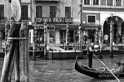 Stop Sign Images Photograph - Stop Mafia Venezia E Sacra by John Rizzuto