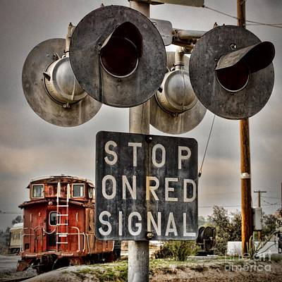 Photograph - Stop On Red by Peggy Hughes