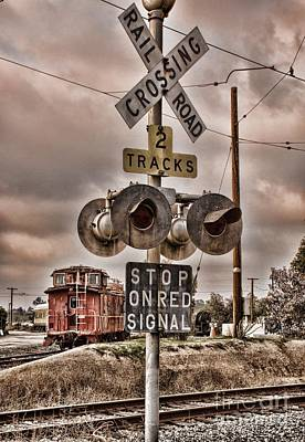 Photograph - Stop On Red Signal by Peggy Hughes