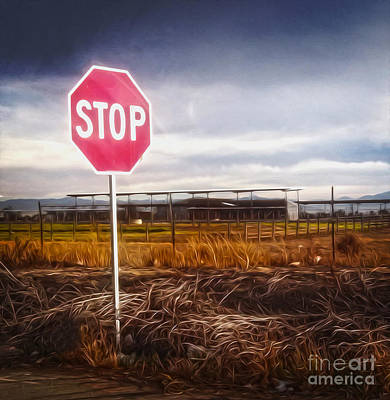 Painting - Stop Sign by Gregory Dyer