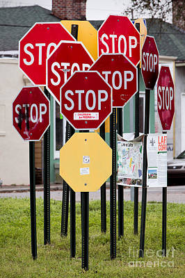 Photograph - Stop Sign Grove by Jerry Fornarotto