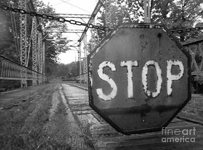 Stop Sign Art Print by Michael Krek