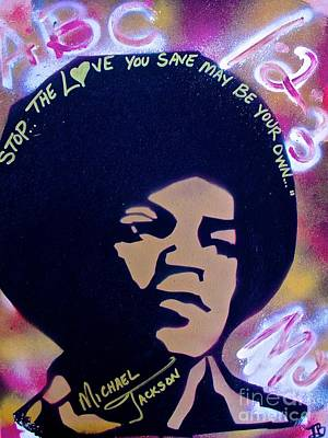 Tony B. Conscious Painting - Stop The Love You Save May Be Your Own  by Tony B Conscious