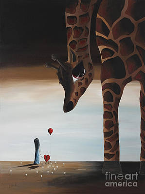 Giraffe Eyes Painting - Stop To Love By Shawna Erback by Shawna Erback