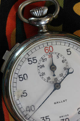 Photograph - Stop Watch 4 by Mary Bedy