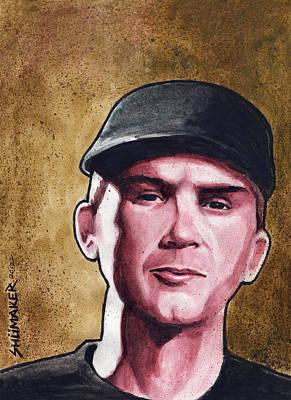 Prison Painting - Stopper Portrait Series Ian by David Shumate
