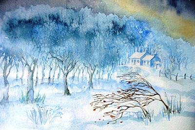 Painting - Stopping By Woods On A Snowy Evening by Trudi Doyle