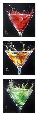 Appletini Painting - Stopping Traffic by Marco Antonio Aguilar