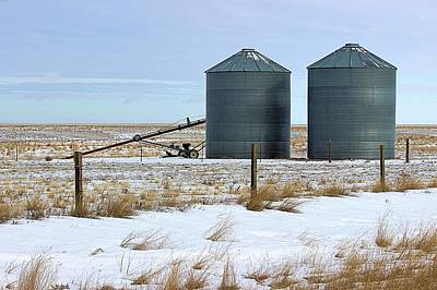 Storage Bins On The Prairie Art Print