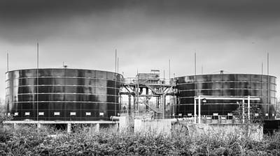 Photograph - Storage Tanks by Gary Gillette