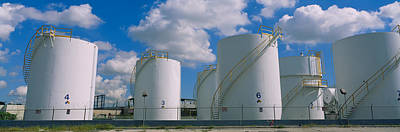 Storage Tanks In A Factory, Miami Art Print by Panoramic Images