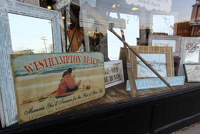 Store Front Westhampton New York Art Print by Bob Savage