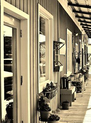 Photograph - Store Fronts In Sepia by VLee Watson