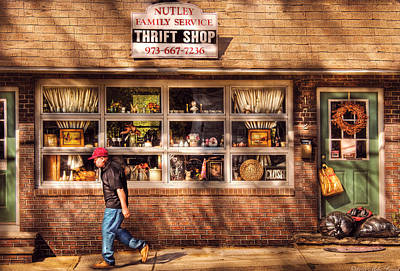 Store -  The Thrift Shop Art Print by Mike Savad