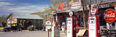 Store With A Gas Station Art Print by Panoramic Images