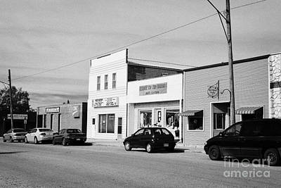 stores on first avenue the town of leader sk Canada Art Print by Joe Fox