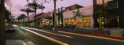 The Red Road Photograph - Stores On The Roadside, Rodeo Drive by Panoramic Images