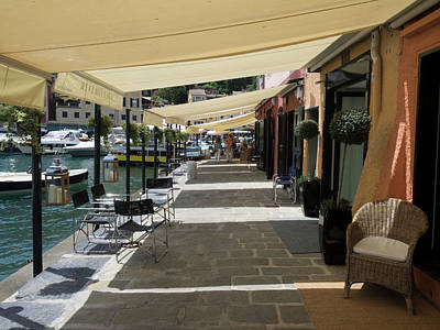 Stores With Awnings, Portofino Art Print
