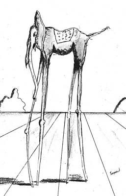 Stork Legs Art Print by Dan Twyman