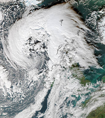 Satellite Image Photograph - Storm Abigail by University Of Dundee
