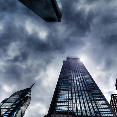 Photograph - Storm And Skyscrapers, Philadelphia, Usa by Zodebala