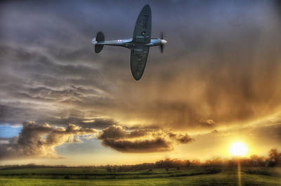 Spitfire Photograph - Storm And The Spitfire by Jason Green