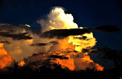 Summer Storm Painting - Storm At Dusk by David Lee Thompson