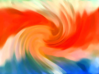 Abstract Digital Painting - Storm At Sea 2 by Amy Vangsgard
