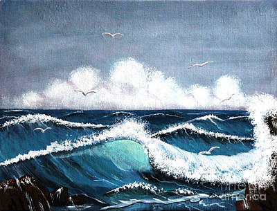 Storm At Sea Art Print by Barbara Griffin