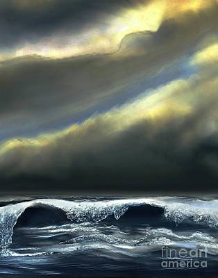 Digital Art - Storm At Sea by Dale   Ford